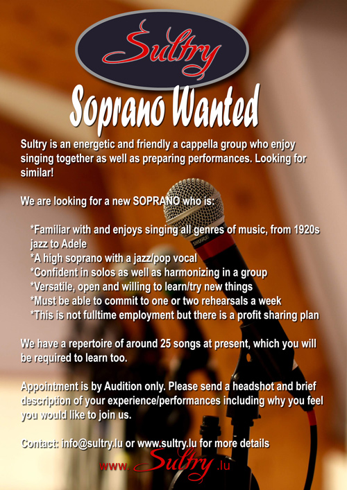Soprano Wanted